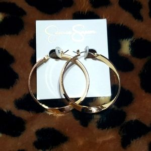 Gold jessica simpson hoops
